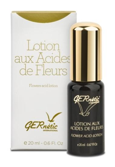Obrázek Gernétic - Lotion Aux Acides de Fleurs - Peelingová květinová ampule - Květinový enzymatický peeling, 20 ml