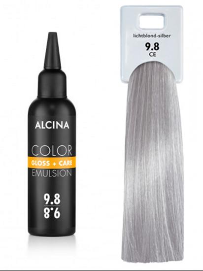 Obrázek Alcina - Tónovací emulze - Color Gloss + Care Emulsion 9.8 Jasná blond - stříbrná 100 ml