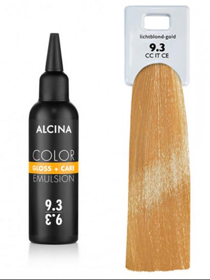 Obrázek Alcina - Tónovací emulze - Color Gloss + Care Emulsion 9.3 Jasná blond zlatá 100 ml