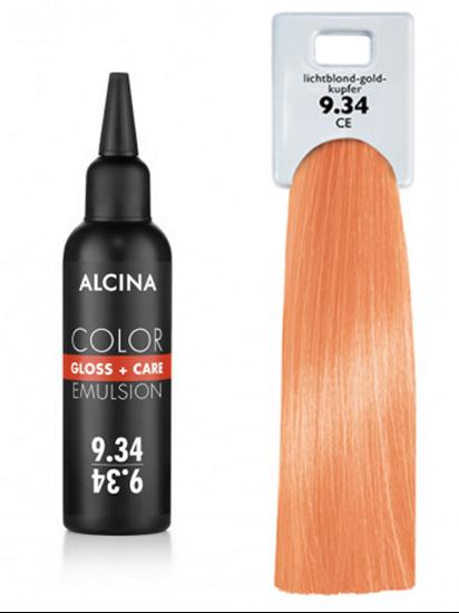 Obrázek Alcina - Tónovací emulze - Color Gloss + Care Emulsion 9.34 Jasná blond - zlatá - měděná 100 ml