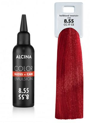 Obrázek Alcina - Tónovací emulze - Color Gloss + Care Emulsion 8.55 Světlá blond - intenzivní červená 100 ml