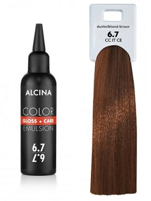 Obrázek Alcina - Tónovací emulze - Color Gloss + Care Emulsion 6.7 Tmavá blond - hnědá 100 ml