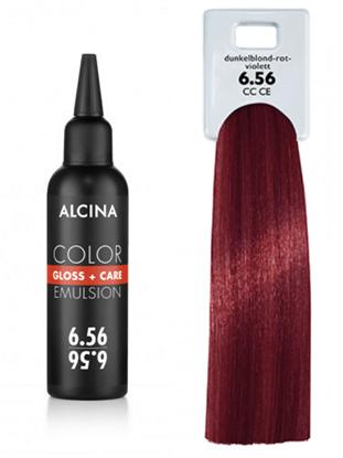 Obrázek Alcina - Tónovací emulze - Color Gloss + Care Emulsion 6.56 Tmavá blond - červená - fialová 100 ml