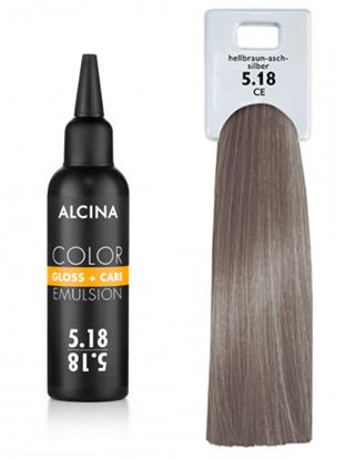Obrázek Alcina - Tónovací emulze - Color Gloss + Care Emulsion 5.18 Světle hnědá - popelavá stříbrná 100 ml