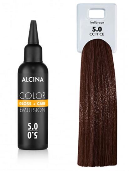 Obrázek Alcina - Tónovací emulze - Color Gloss + Care Emulsion 5.0 Světle hnědá 100 ml