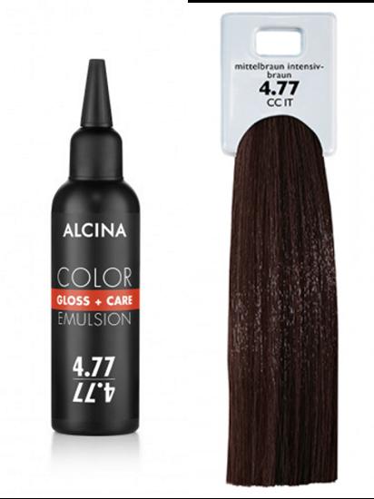 Obrázek Alcina - Tónovací emulze - Color Gloss + Care Emulsion 4.77 Středně hnědá - intenzivní hnědá 100 ml