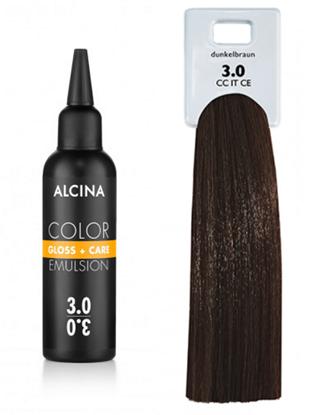 Obrázek Alcina - Tónovací emulze - Color Gloss + Care Emulsion 3.0 Tmavě hnědá 100 ml